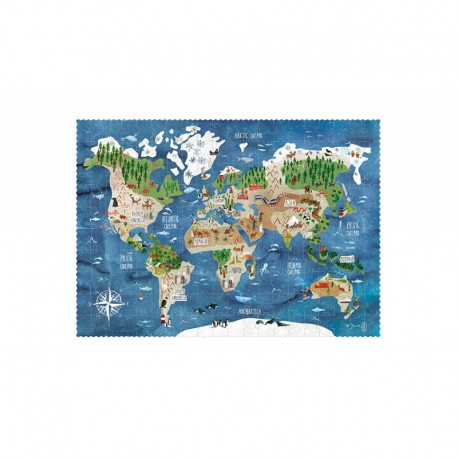 Puzzle 200 pièces - Discover the World
