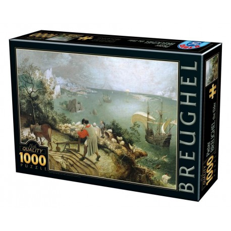 Puzzle 1000 pièces - Brueghel : Landscape with the Fall of Icarus