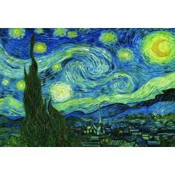 Puzzle 2000 pièces - Nuit Etoilée de Van Gogh
