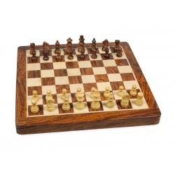 Jeux d'échecs Bois d'Acacia Magnétique Pliant 25cm