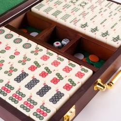 Mahjong Marqué Coffret Bois