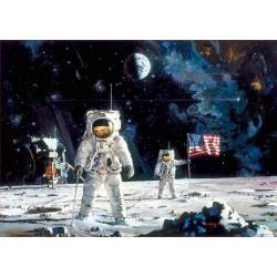 Puzzle 1000 pièces - 1er Homme sur la lune