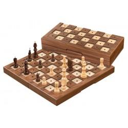 Jeu d'échecs Malvoyant Pliable Bois - 30cm