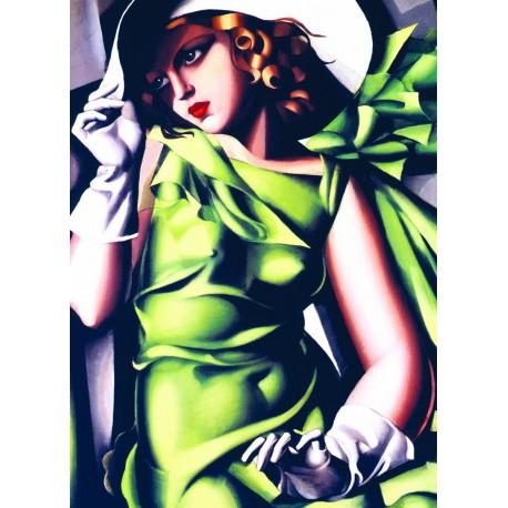 Puzzle 1000 pièces - Femme se Promenant dans une Forêt Exotique de Rousseau