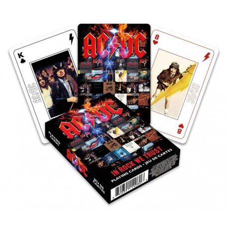 Cartes à jouer AC/DC In Rock We Trust