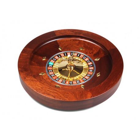 Roulette de luxe en bois d'acajou 45 cm