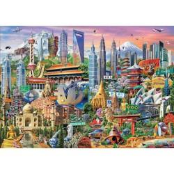 Puzzle 1500 pièces - Gratte-Ciels d'Asie