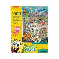 Puzzle 1000 pièces - Bob l'Eponge Cast