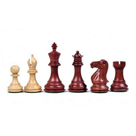 Pièces d'échecs Stallion Padouk - Taille 6