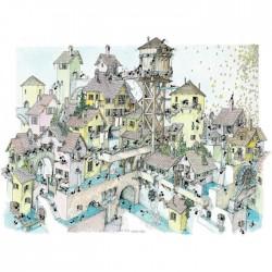 Puzzle 1080 pièces - Eau dans la Ville