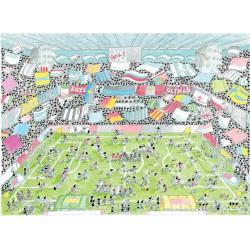 Puzzle 1080 pièces - Stade de Football