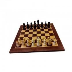 Jeu d'échecs Complet Bois - Noyer & Erable - Taille 4.5