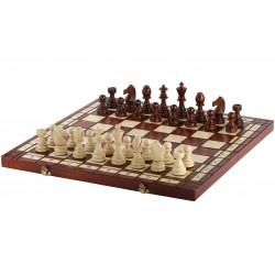 Jeu d'échecs en Bois Pliant Taille 5 - Sunburn Finish