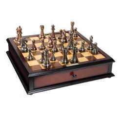 Jeu d'échecs Kasparov Argent/Bronze 51cm