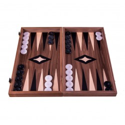 Backgammon Noyer 38 cm