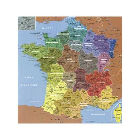 Puzzle Carte de France des Départements, 100 pièces