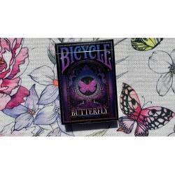 Cartes à jouer Bicycle Butterfly - Purple