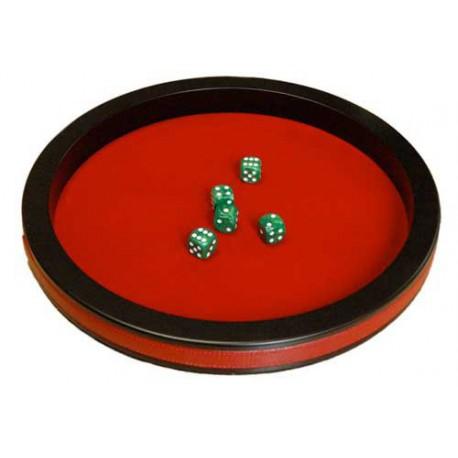Piste de dés prestige 43 cm rouge