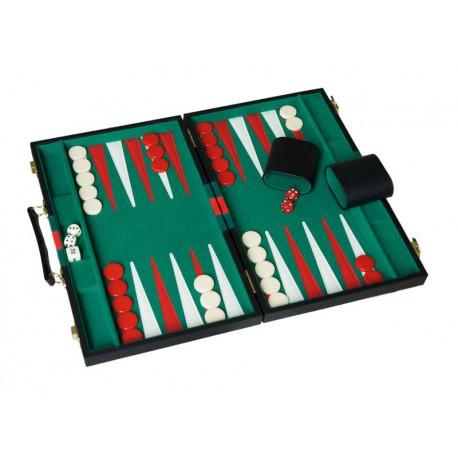 Backgammon Vert-Rouge 38cm