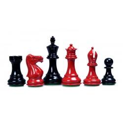 Pièces d'Echecs Stallion Laquées Red/Black - Taille 5
