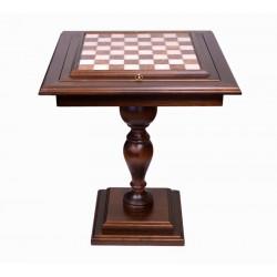 Table échecs en albâtre