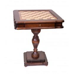 Table de jeu d'échecs en loupe d'orme