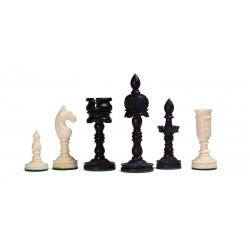 Pièces d'Echecs Temple Camel Bone Black/White (Os)