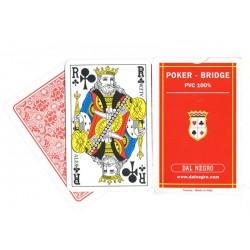 Cartes Dal Negro 100% plastique Rouge