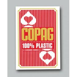 Cartes Copag 4 index Jumbo - Rouge